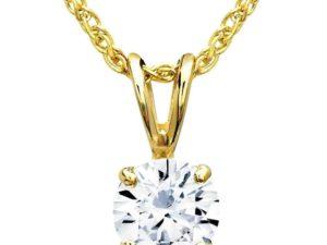 one diamond pendent