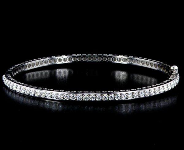 Diamond Bangle Half 2