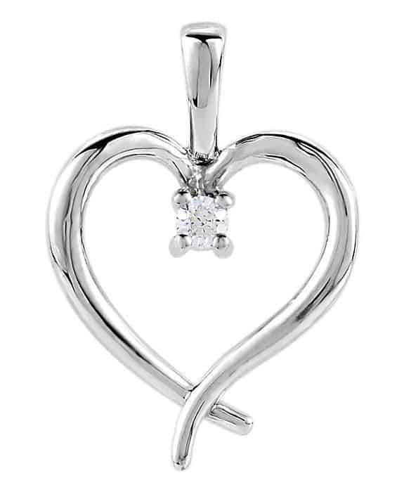 Heart Pendant 4 nails 0.5Ct