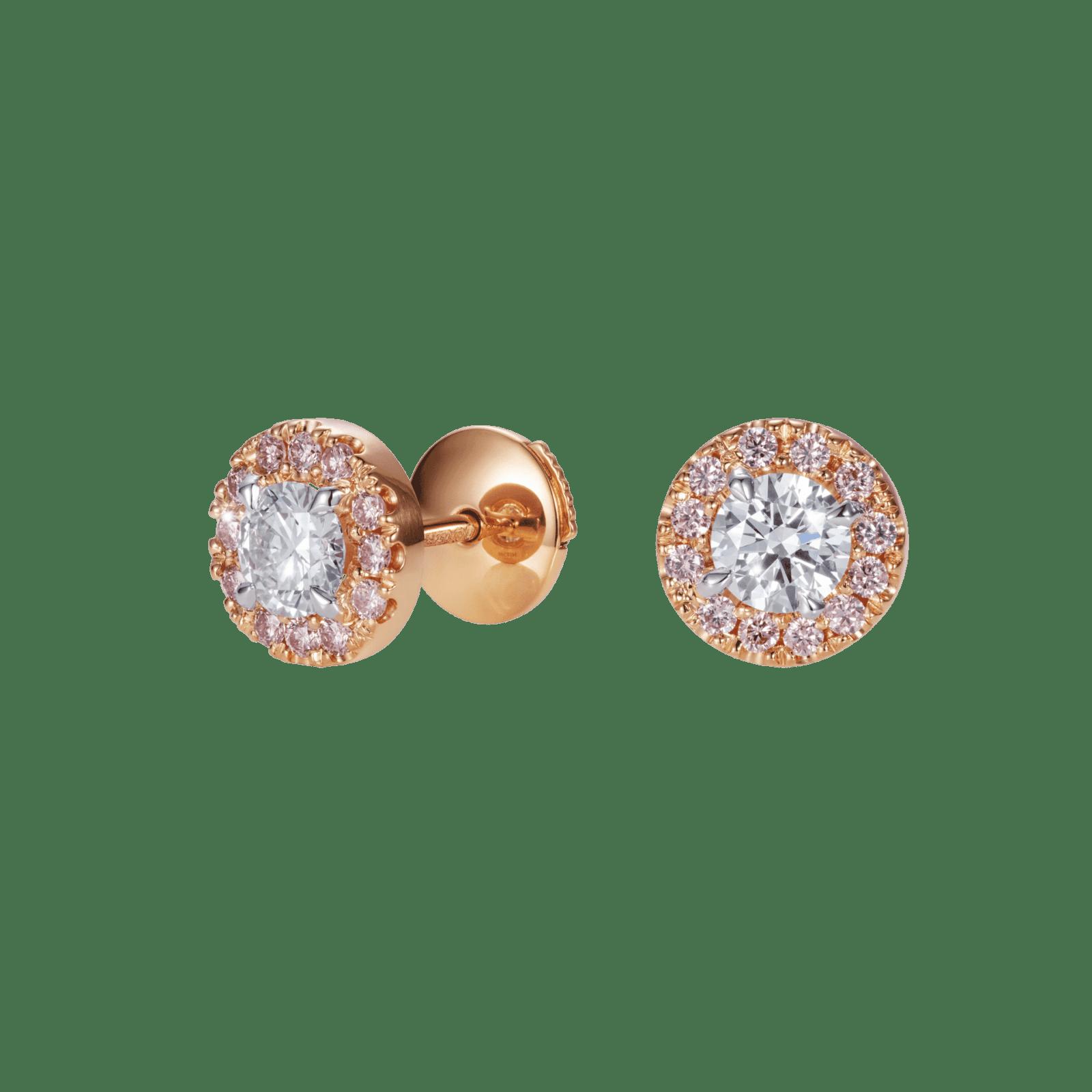 עגילי יהלום צמודי אוזניים הילה
