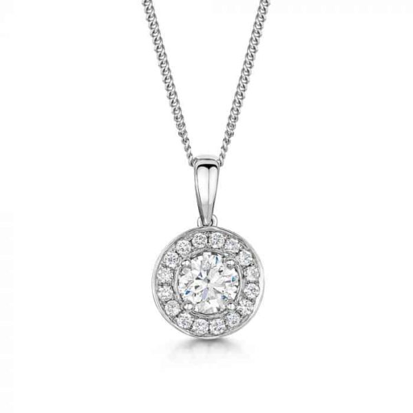 diamond necklace with helo