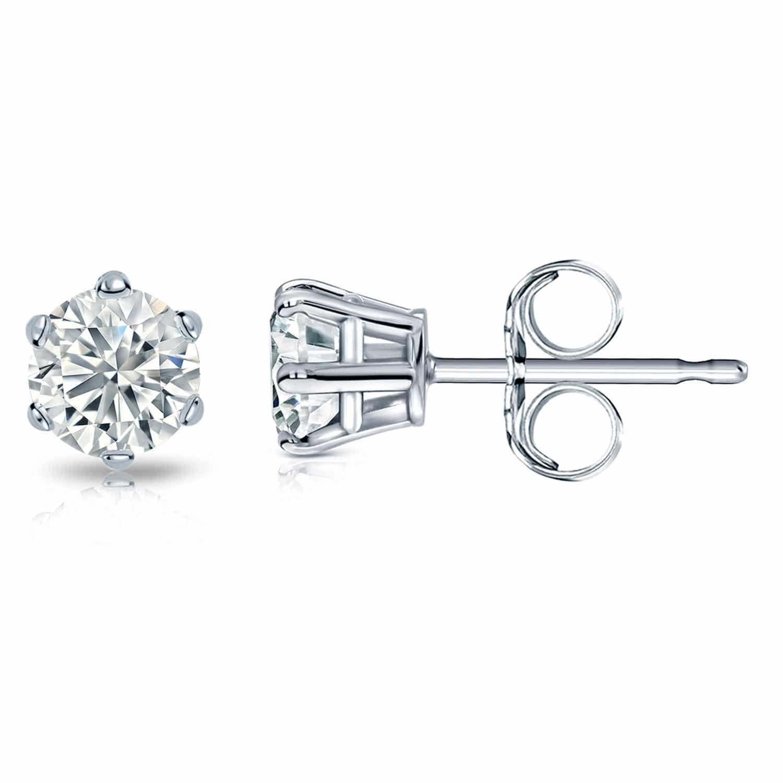 stud lab diamond earrings 18k